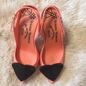 Vivienne Westwood Shoes - Melissa Vivienne Westwood pink jelly hear heels 9